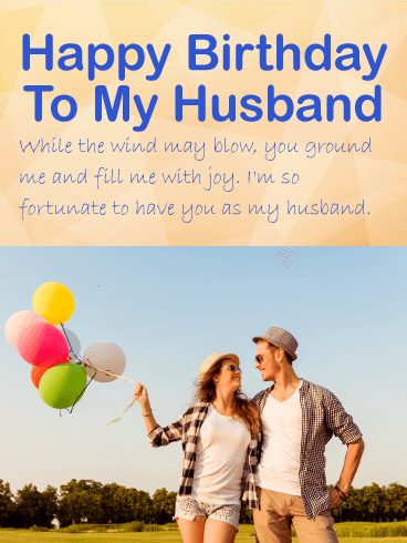 Amazing Happy Birthday Wishes Card For Husband Birthday
