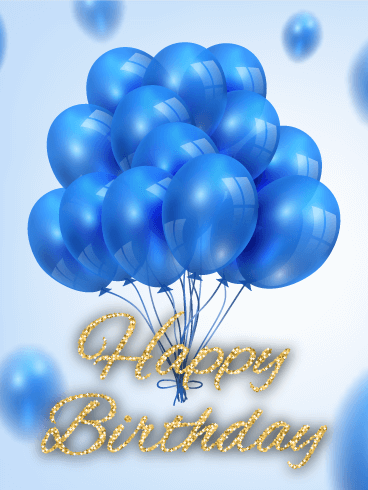 Blue Balloon B Day Card Birthday Amp Greeting Cards By Davia