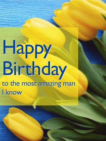 Prime Yellow Tulip Happy B Day Card Birthday Amp Greeting Cards Funny Birthday Cards Online Ioscodamsfinfo