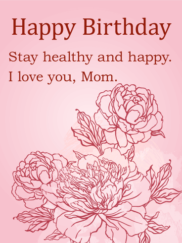 elegant flower birthday card for mom  birthday  greeting cards, Birthday card