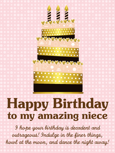Groovy To My Amazing Niece Happy Birthday Wishes Card Birthday Cards Printable Opercafe Filternl