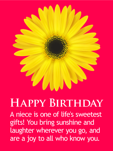 You Bring Sunshine Happy Birthday Wishes Card For Niece
