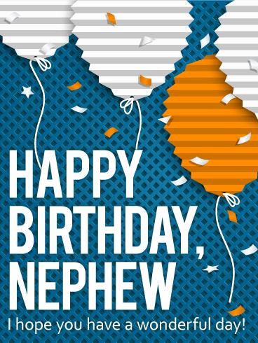 paper balloon birthday card nephew birthday greeting cards davia