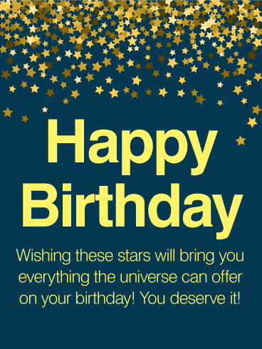 Thousands stars happy birthday wishes card birthday greeting thousands stars happy birthday wishes card sciox Image collections