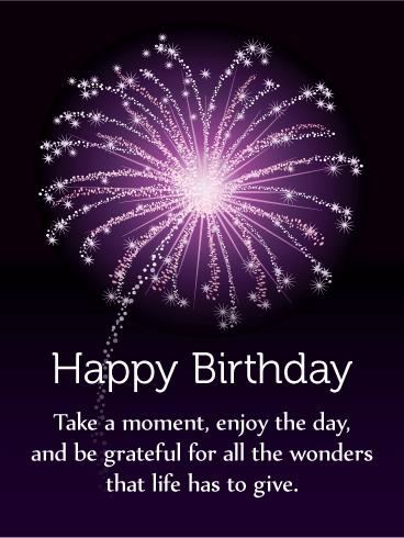 Enjoy the Day! Happy Birthday Card | Birthday & Greeting ...