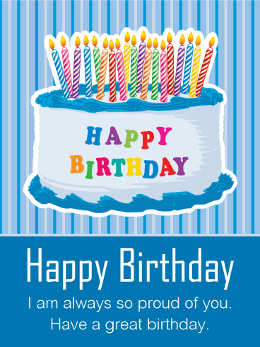 Birthday Cards For Son gangcraftnet