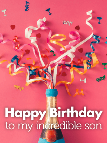 To Incredible Son Happy Birthday Card Png 368x490 My Boy