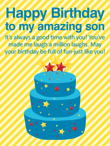 good time happy birthday wishes card son birthday greeting cards davia
