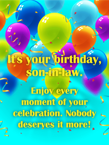 Enjoy Every Moment Happy Birthday Card For Son In Law Png 368x490