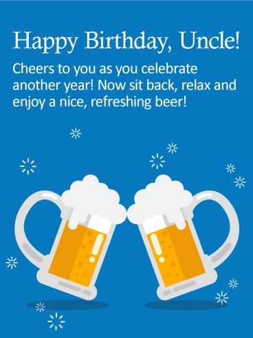 Enjoy a Nice Beer! Happy Birthday Wishes Card   Birthday ...