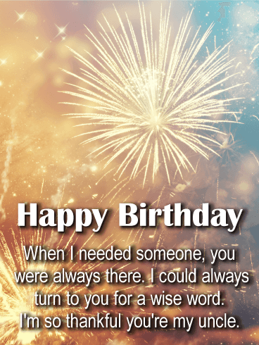 Pleasing Youre Always There Happy Birthday Wishes Card For Uncle Personalised Birthday Cards Xaembasilily Jamesorg
