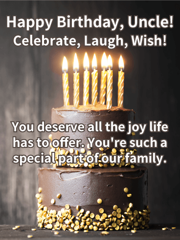 You Are Special Happy Birthday Wishes Card For Uncle