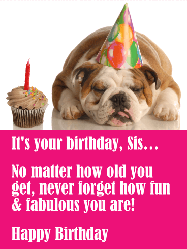 you are fun amp fabulous funny birthday card for sister