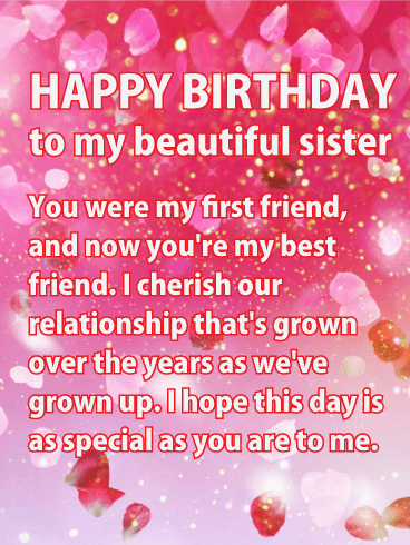 card sister birthday happy wishes cards messages sis pink quotes greeting tell shining friend sisters greetings glitter holidaycardsapp she didi