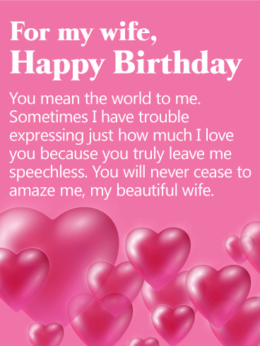 You mean the world to me happy birthday card for wife birthday greeting cards by davia - Happy birthday my love cards ...