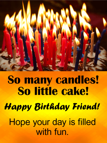 So Many Candles Funny Birthday Card For Friends