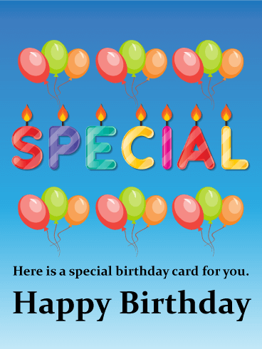 the special happy birthday card birthday amp greeting
