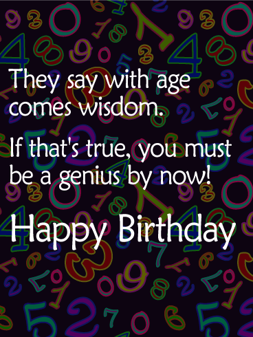 Age Is Just A Number Funny Birthday Card Birthday