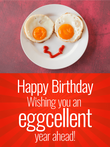 Outstanding Wishing You An Eggcellent Year Funny Birthday Card Personalised Birthday Cards Akebfashionlily Jamesorg