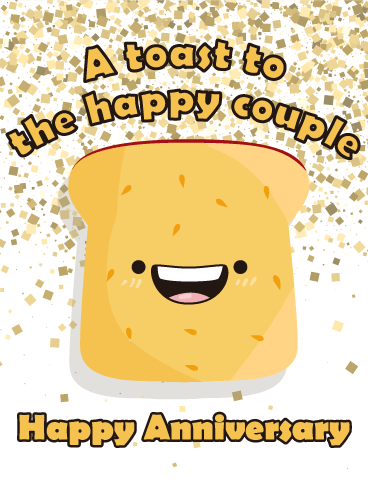 funny anniversary wishes let s toast happy anniversary card birthday amp greeting 6016