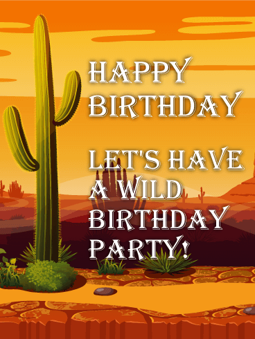 Fine Wild Party In The Desert Funny Birthday Card Birthday Funny Birthday Cards Online Hetedamsfinfo