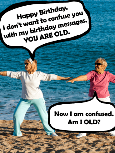 Am I Old Funny Birthday Card Birthday Amp Greeting Cards