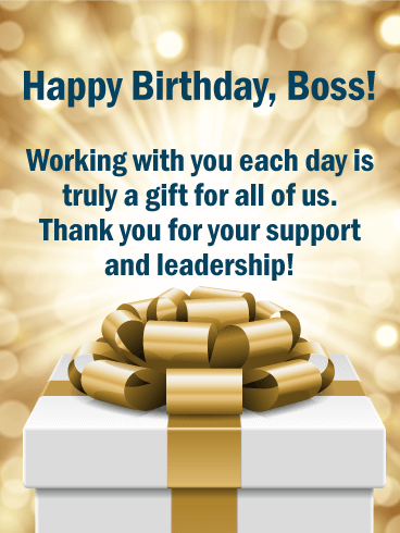 Working With You Is A Gift Happy Birthday Wishes Card For