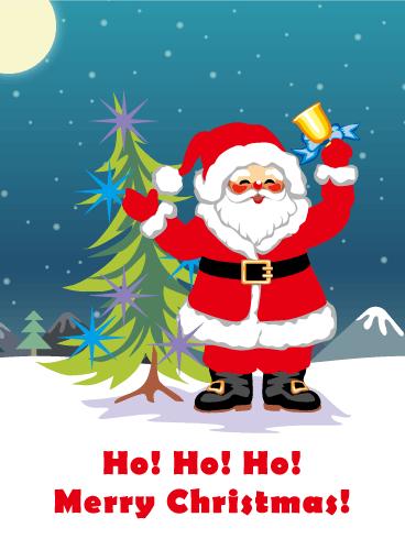 Ho Ho Ho! Santa Claus Christmas Card | Birthday & Greeting Cards ...