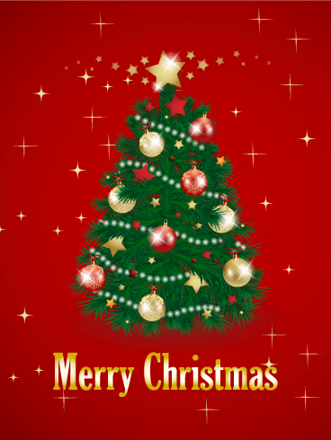 christmas tree card - Christmas Tree Card