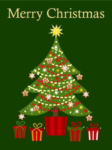 Cute Christmas Tree Card Birthday Amp Greeting Cards By Davia