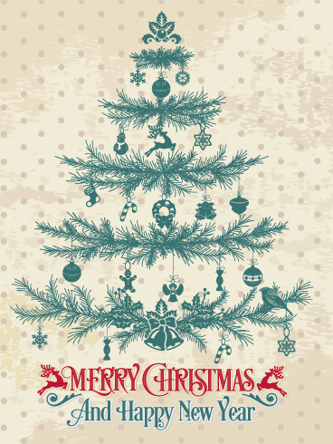 classic christmas tree card - Classic Christmas Trees