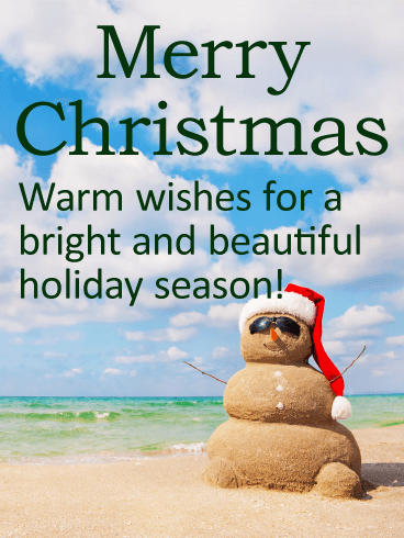 sand snowman christmas card birthday amp greeting cards by