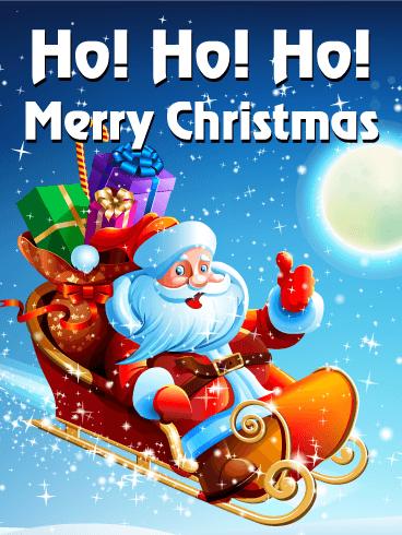 ho ho ho happy christmas card birthday greeting cards by davia