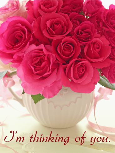 Red Rose Thinking of You Card | Birthday & Greeting Cards ...