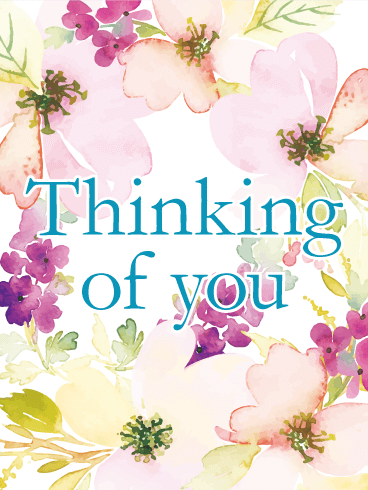 Sizzling image with free printable thinking of you cards