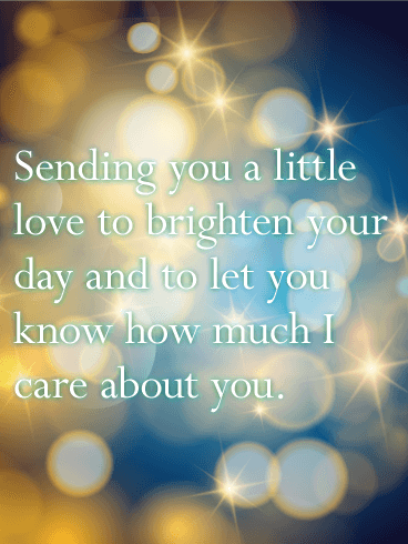 Sending You a Little Love - Thinking of You Card ...