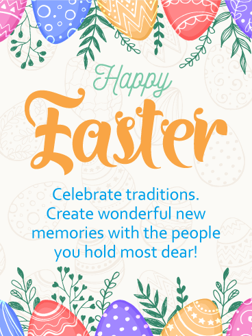 Celebrate Traditions Happy Easter Card Birthday