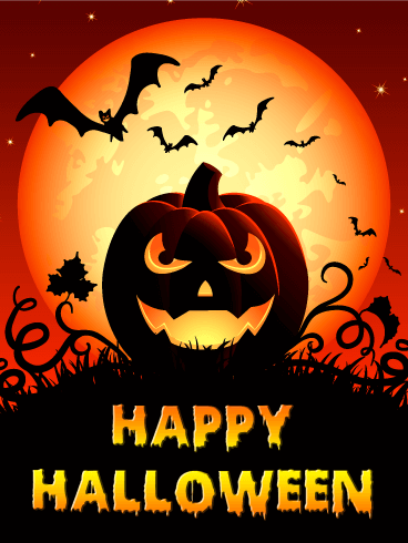 Spooky Smile Halloween Pumpkin Card | Birthday & Greeting ...