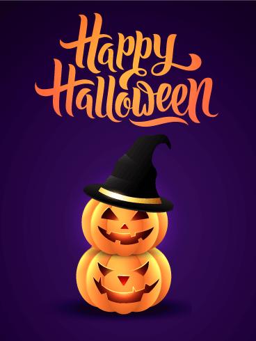 Superb Twin Halloween Pumpkin Card Birthday Amp Greeting Cards By Funny Birthday Cards Online Amentibdeldamsfinfo