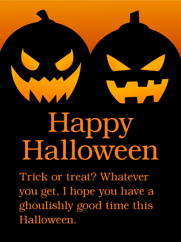 Have a Ghoulishly Good Time - Happy Halloween Card | Birthday ...