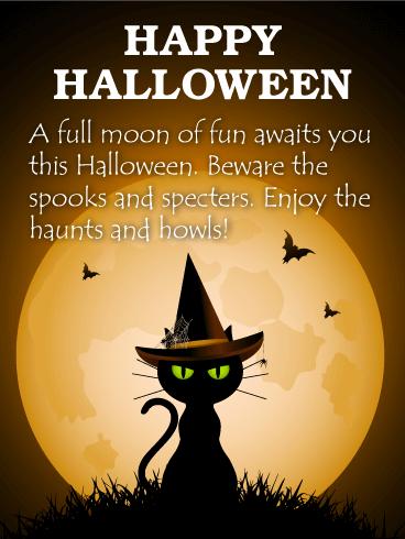Enjoy the Haunts and Howls! Happy Halloween Card ...