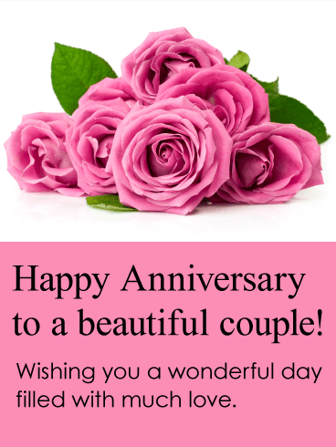 To a beautiful couple happy anniversary card birthday What to get my wife for first anniversary