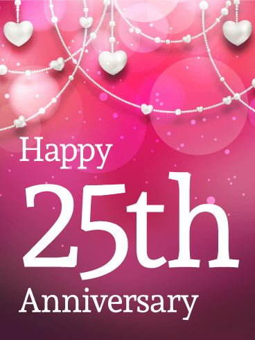 Happy 25th Anniversary Card Birthday Amp Greeting Cards By