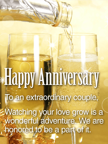 To An Extraordinary Couple Happy Anniversary Card