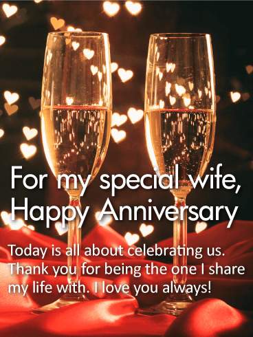 For My Special Wife Happy Anniversary Card Birthday