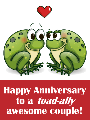 funny anniversary wishes two loving toad anniversary card birthday 6016