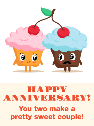 To a Pretty Sweet Couple - Funny Anniversary Card ...