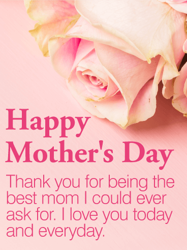 to the best mom happy mothers day card birthday