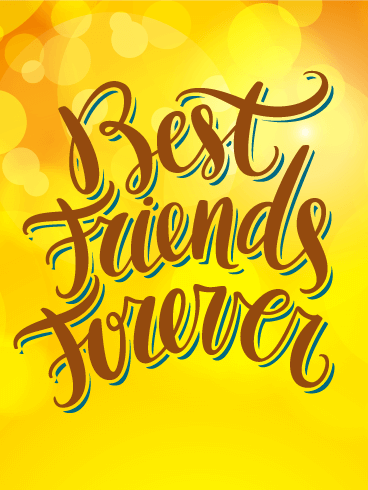 Astounding Best Friends Forever Friendship Card Birthday Funny Birthday Cards Online Unhofree Goldxyz