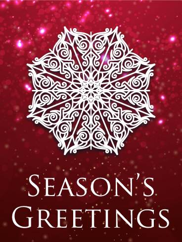 Snowflake Season's Greeting Card | Birthday & Greeting Cards by Davia